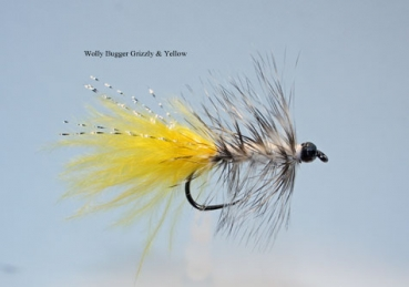 Wolly Bugger - Grizzly & Yellow